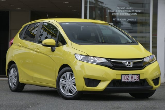 Used Honda Jazz GF MY15 VTi, 2015 Honda Jazz GF MY15 VTi Attract Yellow/cloth 1 Speed Constant Variable Hatchback