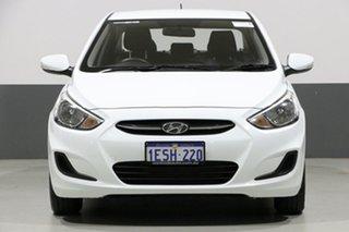 2015 Hyundai Accent RB2 Active White 4 Speed Automatic Sedan.