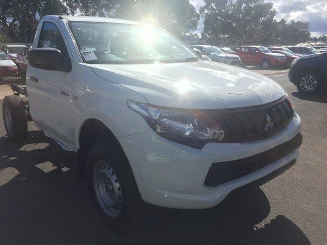 Demo Mitsubishi Triton MQ MY18 GLX, 2018 Mitsubishi Triton MQ MY18 GLX White 5 Speed Manual Cab Chassis