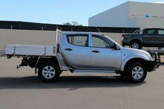 2013 Mitsubishi Triton MN MY13 GLX Double Cab Silver 5 Speed Manual Utility.