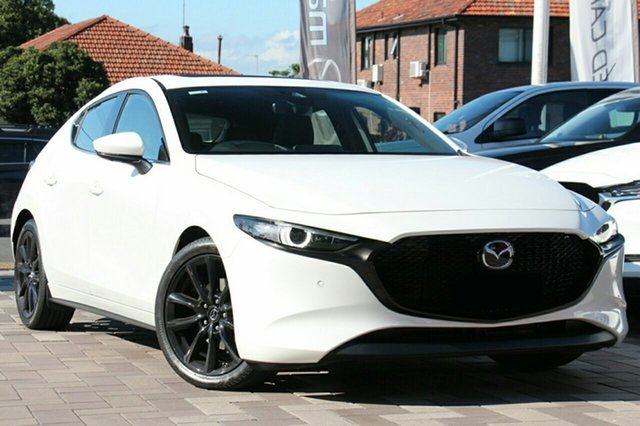 New Mazda 3 BP2HLA G25 SKYACTIV-Drive Astina, 2019 Mazda 3 BP2HLA G25 SKYACTIV-Drive Astina White Pearl 6 Speed Sports Automatic Hatchback