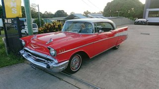 1957 Chevrolet Bel-Air Red 3 Speed Automatic Hardtop.