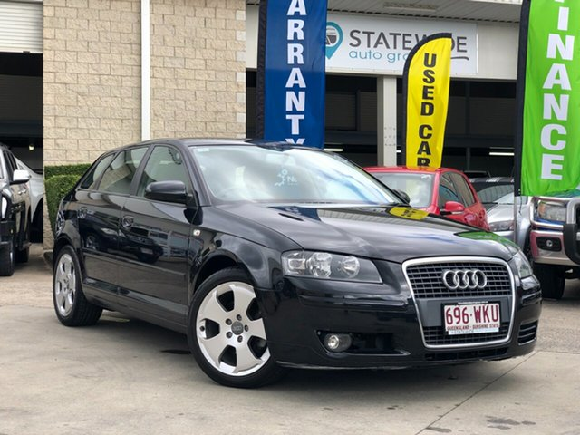 Used Audi A3 8P MY09 Ambition Sportback S Tronic Quattro, 2008 Audi A3 8P MY09 Ambition Sportback S Tronic Quattro Black 6 Speed Sports Automatic Dual Clutch