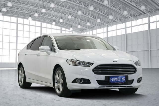 Used Ford Mondeo MD 2017.50MY Trend SelectShift, 2017 Ford Mondeo MD 2017.50MY Trend SelectShift Frozen White 6 Speed Sports Automatic Hatchback