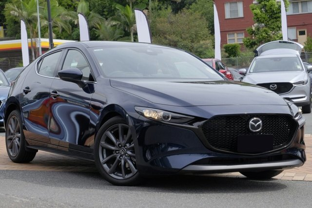 New Mazda 3 BP2HLA G25 SKYACTIV-Drive GT Liverpool, 2020 Mazda 3 BP2HLA G25 SKYACTIV-Drive GT Deep Crystal Blue 6 Speed Sports Automatic Hatchback