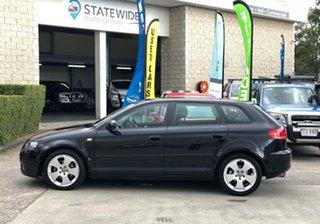 2008 Audi A3 8P MY09 Ambition Sportback S Tronic Quattro Black 6 Speed Sports Automatic Dual Clutch