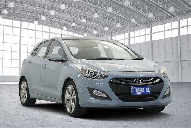 Used Hyundai i30 GD MY14 Premium, 2013 Hyundai i30 GD MY14 Premium Stone Blue 6 Speed Sports Automatic Hatchback