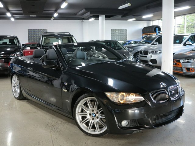 Used BMW 3 Series E93 MY10 , 2009 BMW 3 Series E93 MY10 Black Sapphire 7 Speed Sports Automatic Dual Clutch Convertible