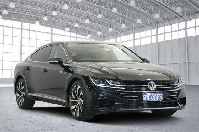 Used Volkswagen Arteon 3H MY18 206TSI Sedan DSG 4MOTION R-Line, 2017 Volkswagen Arteon 3H MY18 206TSI Sedan DSG 4MOTION R-Line Black 7 Speed
