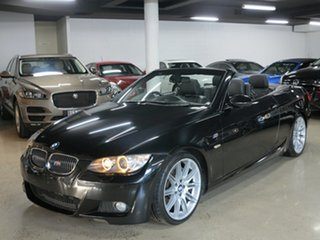 2009 BMW 3 Series E93 MY10 335i D-CT Black Sapphire 7 Speed Sports Automatic Dual Clutch Convertible.