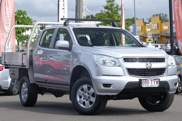 Used Holden Colorado RG MY14 LX Crew Cab, 2014 Holden Colorado RG MY14 LX Crew Cab Silver 6 Speed Sports Automatic Cab Chassis