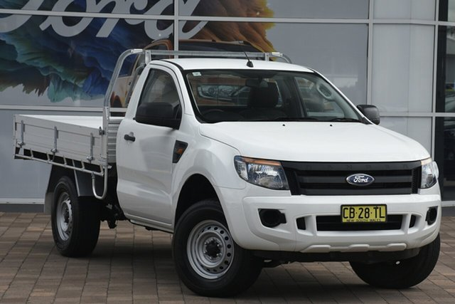 Used Ford Ranger PX XL 4x2 Hi-Rider, 2015 Ford Ranger PX XL 4x2 Hi-Rider White 6 Speed Sports Automatic Cab Chassis