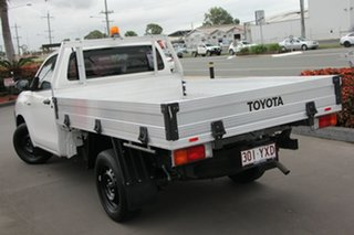 2016 Toyota Hilux TGN121R Workmate 4x2 Glacier White 6 Speed Sports Automatic Cab Chassis