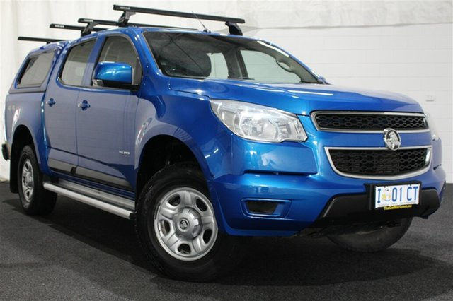 Used Holden Colorado RG MY14 LX Crew Cab, 2014 Holden Colorado RG MY14 LX Crew Cab Blue 6 Speed Manual Utility