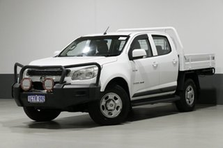 2012 Holden Colorado RG LX (4x4) White 5 Speed Manual Cab Chassis.