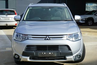 2014 Mitsubishi Outlander ZJ MY14.5 LS 2WD Silver 6 Speed Constant Variable Wagon.