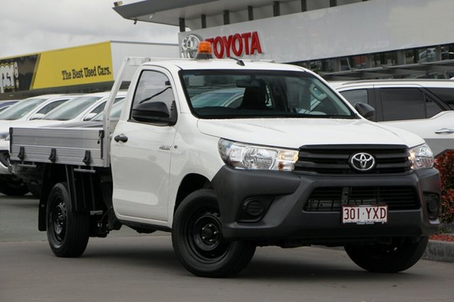 Used Toyota Hilux TGN121R Workmate 4x2, 2016 Toyota Hilux TGN121R Workmate 4x2 Glacier White 6 Speed Sports Automatic Cab Chassis