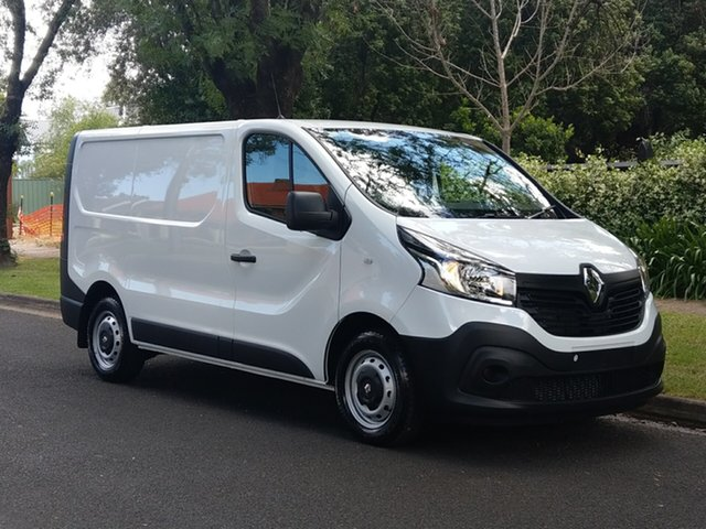 Demo Renault Trafic X82 85kW Low Roof SWB, 2018 Renault Trafic X82 85kW Low Roof SWB Glacier White 6 Speed Manual Van