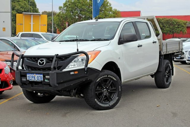 Used Mazda BT-50 UP0YF1 XT, 2014 Mazda BT-50 UP0YF1 XT White 6 Speed Manual Cab Chassis