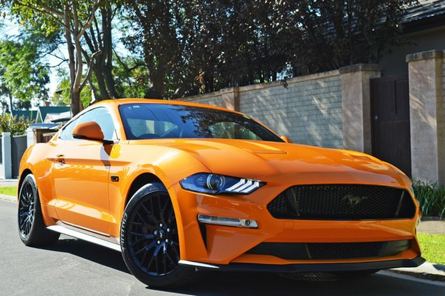 Used Ford Mustang FN 2018MY GT Fastback SelectShift, 2018 Ford Mustang FN 2018MY GT Fastback SelectShift Orange 10 Speed Sports Automatic Fastback