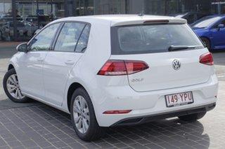2018 Volkswagen Golf 7.5 MY19 110TSI DSG Trendline Pure White 7 Speed Sports Automatic Dual Clutch.