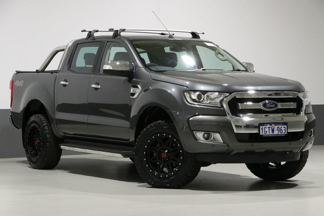 Used Ford Ranger PX MkII MY18 XLT 3.2 (4x4), 2018 Ford Ranger PX MkII MY18 XLT 3.2 (4x4) Grey 6 Speed Automatic Dual Cab Utility