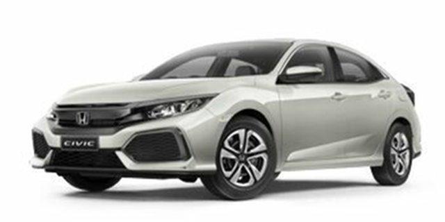 Demo Honda Civic 10th Gen MY19 VTi, 2019 Honda Civic 10th Gen MY19 VTi White Orchid 1 Speed Constant Variable Hatchback