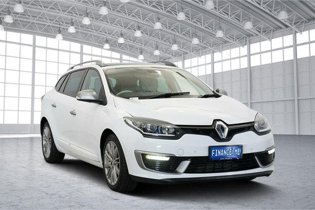 Used Renault Megane III K95 Phase 2 GT-Line Sportwagon EDC Premium, 2014 Renault Megane III K95 Phase 2 GT-Line Sportwagon EDC Premium White 6 Speed
