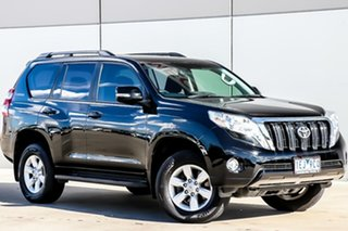 2015 Toyota Landcruiser Prado KDJ150R MY14 GXL Black 5 Speed Sports Automatic Wagon.