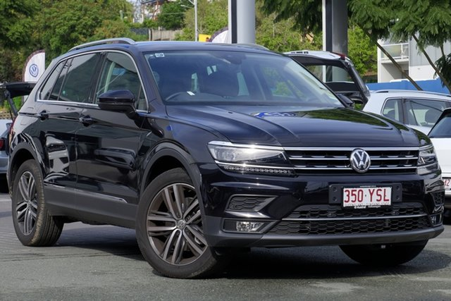 Demo Volkswagen Tiguan 5N MY19 162TSI DSG 4MOTION Highline, 2018 Volkswagen Tiguan 5N MY19 162TSI DSG 4MOTION Highline Deep Black Pearl Effect 7 Speed