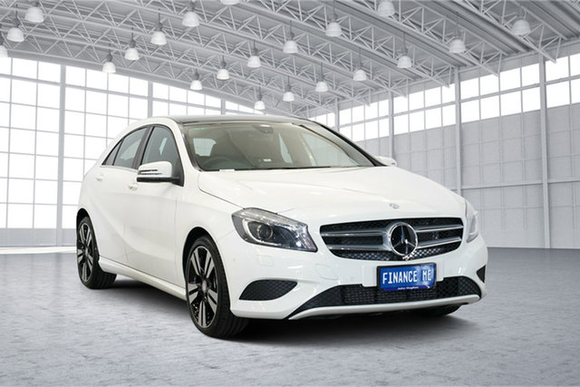 Used Mercedes-Benz A200 W176 805+055MY D-CT, 2015 Mercedes-Benz A200 W176 805+055MY D-CT White 7 Speed Sports Automatic Dual Clutch Hatchback