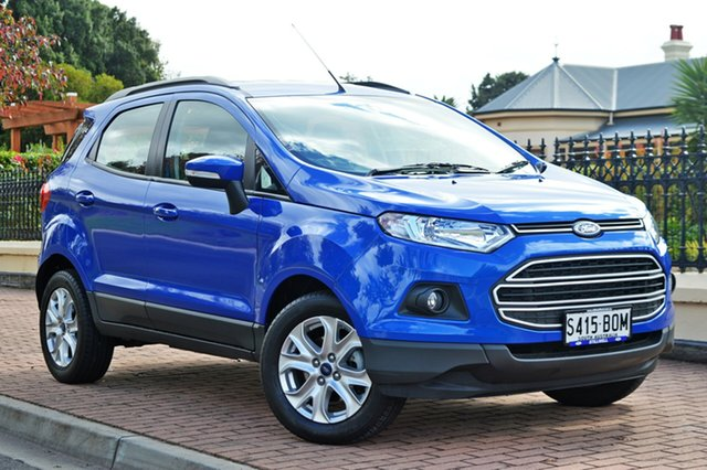 Used Ford Ecosport BK Trend PwrShift, 2016 Ford Ecosport BK Trend PwrShift Blue 6 Speed Sports Automatic Dual Clutch Wagon
