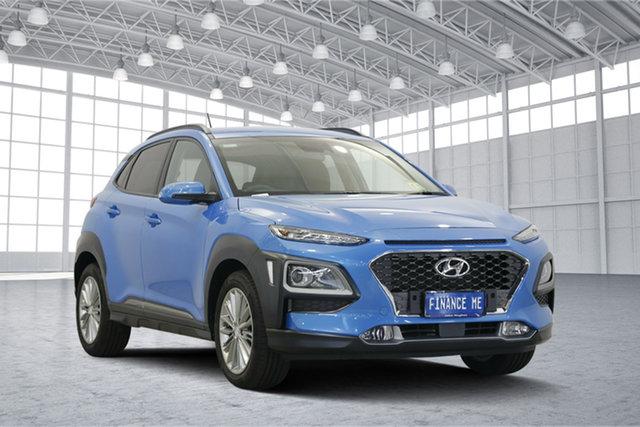 Used Hyundai Kona OS MY18 Elite 2WD, 2017 Hyundai Kona OS MY18 Elite 2WD Blue 6 Speed Sports Automatic Wagon