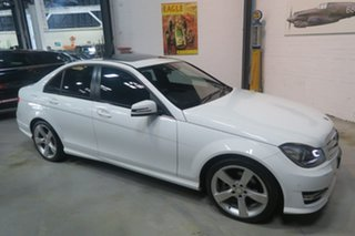 2014 Mercedes-Benz C200 W204 MY14 Avantgarde 7G-Tronic + White 7 Speed Sports Automatic Sedan