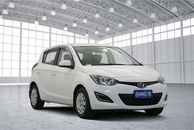 Used Hyundai i20 PB MY16 Active, 2015 Hyundai i20 PB MY16 Active White 4 Speed Automatic Hatchback