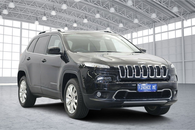 Used Jeep Cherokee KL Limited, 2014 Jeep Cherokee KL Limited Black 9 Speed Sports Automatic Wagon