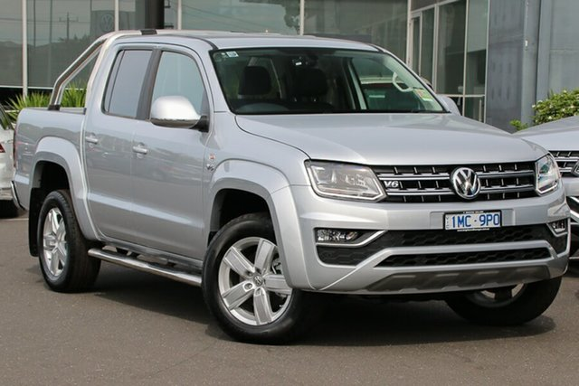 Demo Volkswagen Amarok 2H MY19 TDI550 4MOTION Perm Highline, 2019 Volkswagen Amarok 2H MY19 TDI550 4MOTION Perm Highline Reflex Silver 8 Speed Automatic Utility