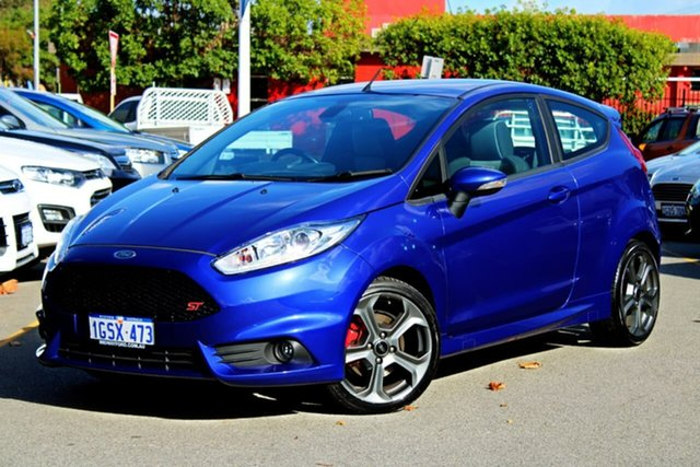 Used Ford Fiesta WZ ST, 2017 Ford Fiesta WZ ST Blue 6 Speed Manual Hatchback