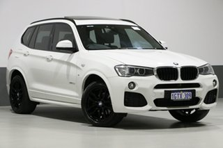 2017 BMW X3 F25 MY17 Update xDrive 20D Alpine White 8 Speed Automatic Wagon.