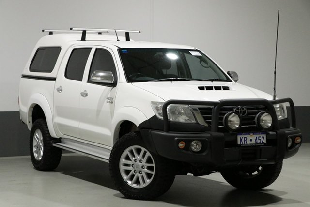 Used Toyota Hilux KUN26R MY14 SR5 (4x4), 2014 Toyota Hilux KUN26R MY14 SR5 (4x4) White 5 Speed Automatic Dual Cab Pick-up