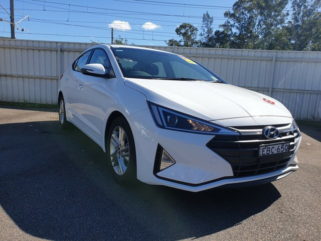 Demo Hyundai Elantra AD.2 MY19 Active, 2018 Hyundai Elantra AD.2 MY19 Active Polar White 6 Speed Sports Automatic Sedan
