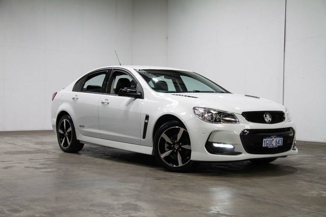Used Holden Commodore VF II MY16 SS Black, 2016 Holden Commodore VF II MY16 SS Black White 6 Speed Sports Automatic Sedan