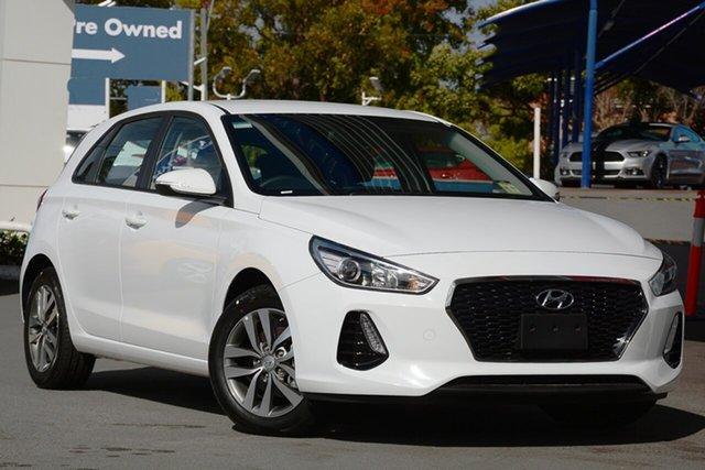 New Hyundai i30 PD2 MY19 Active, 2019 Hyundai i30 PD2 MY19 Active Polar White 6 Speed Sports Automatic Hatchback