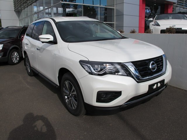 New Nissan Pathfinder  ST+ X-tronic 2WD, 2019 Nissan Pathfinder R52 SERIES III ST+ X-tronic 2WD Ivory Pearl 1 Speed Constant Variable Wagon