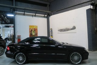 2005 Mercedes-Benz CLK350 A209 MY06 Elegance Black 7 Speed Sports Automatic Cabriolet.