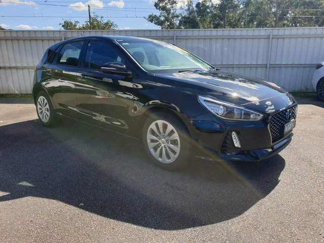 Demo Hyundai i30 PD MY18 Go, 2018 Hyundai i30 PD MY18 Go Phantom Black 6 Speed Sports Automatic Hatchback