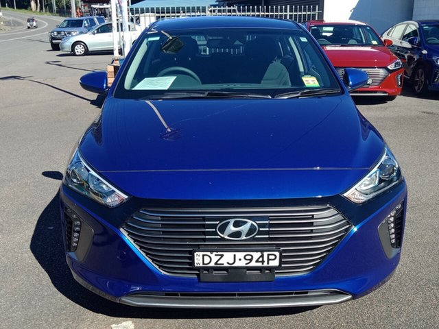 Demo Hyundai Ioniq AE.2 MY19 plug-in DCT Elite, 2018 Hyundai Ioniq AE.2 MY19 plug-in DCT Elite Intense Blue 6 Speed Sports Automatic Dual Clutch