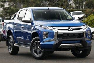 2019 Mitsubishi Triton MR MY19 GLS Impulse Blue 6 Speed Automatic.