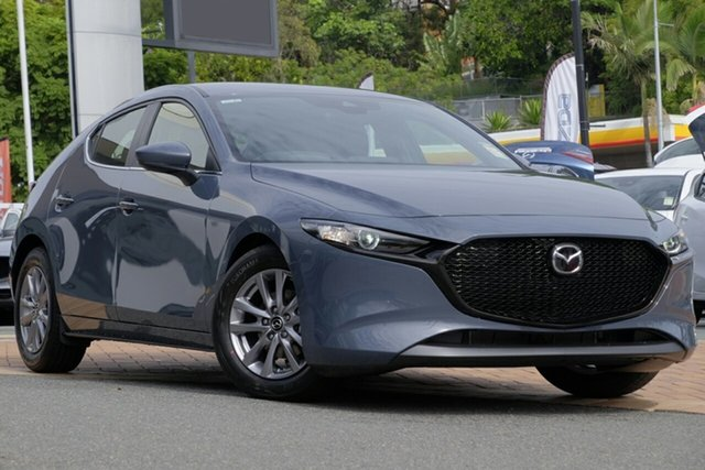 New Mazda 3 BP2H7A G20 SKYACTIV-Drive Pure, 2020 Mazda 3 BP2H7A G20 SKYACTIV-Drive Pure Polymetal Grey 6 Speed Sports Automatic Hatchback