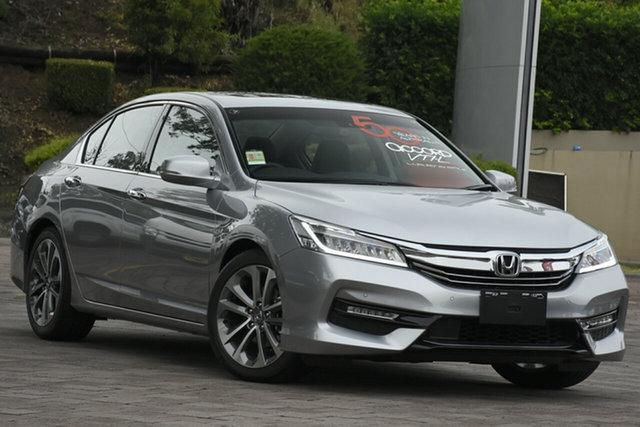 New Honda Accord 9th Gen MY18 VTi-L, 2018 Honda Accord 9th Gen MY18 VTi-L Lunar Silver 5 Speed Sports Automatic Sedan